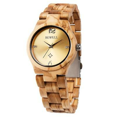Men Women Wooden Quartz Watches Analog Lightweight Handmade Wrist Watches C