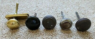 Mixed Lot of Vintage Door Knobs Black Glass Metal