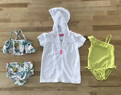 Baby Girl summer lot of Swimsuits Bathing Suits Cover-Up sz 6-9-12 mo - Old Navy