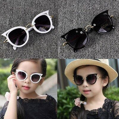 ANTI-UV Kids Cat Eye Sunglasses Child Boys Girls Shades Baby Goggles Glasses