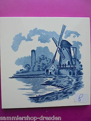 21069-8 Kachel Windmühle Fliese M* sehr gut tile wind mill very good prewar