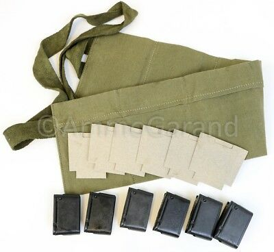 Garand Bandoleer Repack Set for M1 Garand w/ 8rd Clips Card Board Inserts New