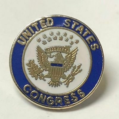 United States Congress Member's Lapel Pin Vintage 1980's Political Collectible