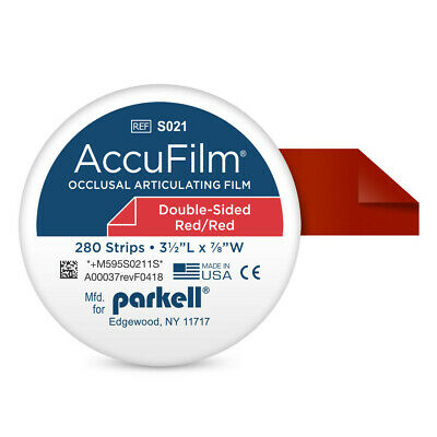 """Parkell S021 Accu Film II Articulating Film Double Sided Red .0008"""" 280/Pk"""