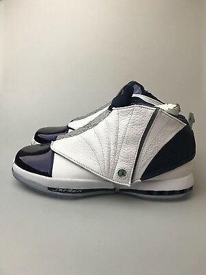 49700a0dc63d Mens Air Jordan Retro XVI 16 White Midnight Navy Blue 683075-106 2016 OG