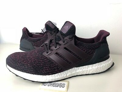 0075c177323 Adidas Ultra Boost 3.0 Dark Burgundy Core Black Maroon S80732 Men s Size 10  New