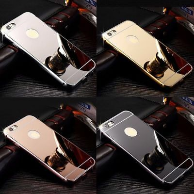 NEW Luxury Aluminum Ultra-thin Mirror Metal Case Cover for iPhone 5 6 7 8 USPS