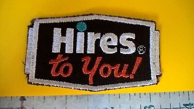 Hires rootbeer ROOT BEER logo sew on patch Vintage Hires to you !