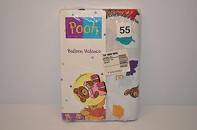 "New Classic WINNIE The  POOH Ballon Valance White for 48"" Window Free Shipping"