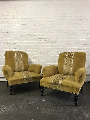 Stunning Pair Of Antique French Napoleon III Armchairs