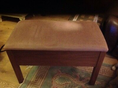 Antique Vintage Double(Duet) Piano Stool with Storage