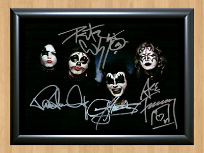 Kiss Ace Frehley Music Rock Signed Autographed A4 Photo Print Poster Memorabilia