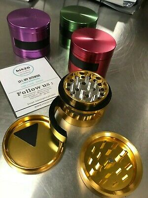 Herb Grinder side slide tobacco crusher  (US SELLER) SUN DRAGON