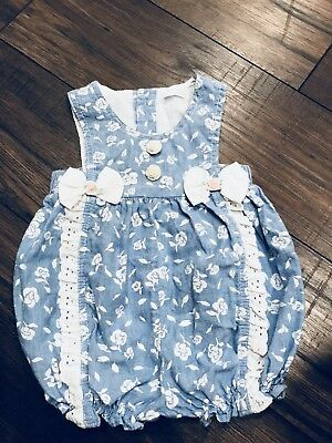 Vintage Baby Girl Romper Bubble 3/6 Months