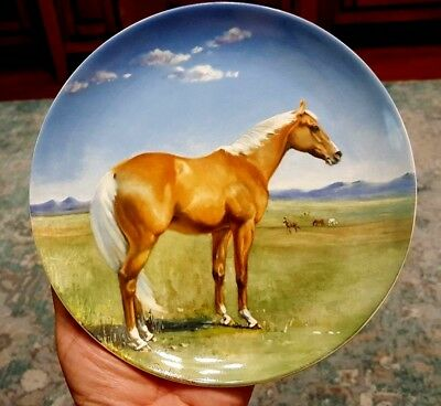 THE AMERICAN QUARTER HORSE Decorative Plate 1988 Spode with COA Susie Whitcombe