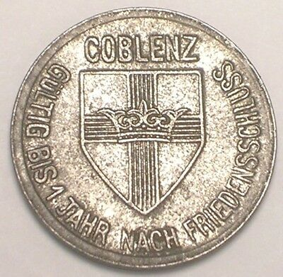 1918 German Germany 10 Pfennig Coblenz WWI Era Notgeld War Money Token