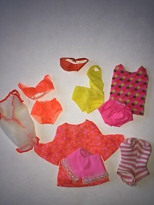 Vintage Barbie / Francie, PJ Doll Swimsuit Lot 1960's Very Cool!  HTF