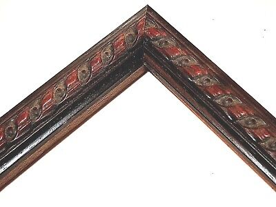 1 Walnut Italian Ornate 1 Deep Rabbet Wood Picture Frame Custom