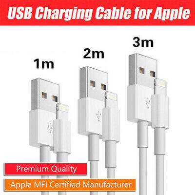 1m 2m 3m USB Lightning Data Charging Cable for Genuine Apple iPhone7/8/X/XS/Max