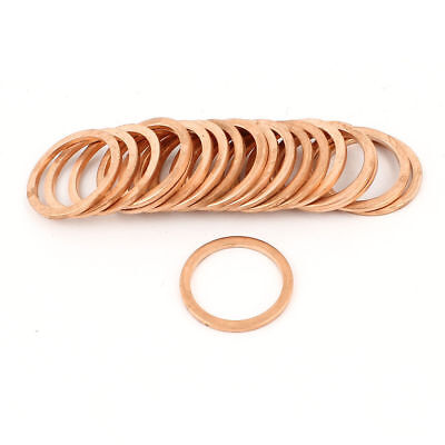 20pcs 24mm Inner Dia 2mm Thickness Copper Flat Washer Gasket Seal Fitting