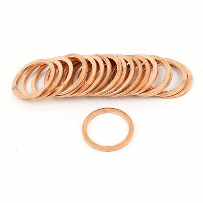 H● 20pcs 24mm Inner Dia 2mm Thickness Copper Flat Washer Gasket Seal Fitting