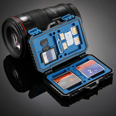 Memory Card Case Water-Resistant Anti-shock Holder Storage SD SDHC SDXC TF