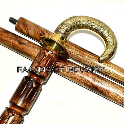 Brass Vintage Looking Cane Handle/Walking Stick-Antique Fancy Nautical Canes #