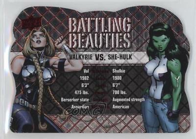 2016 Upper Deck Marvel Gems Battling Beauties BB-6 Valkyrie vs She-Hulk Card 4p5