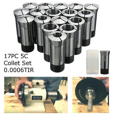 17Pcs 5C Metric Round Collet Set High Precision Milling Engineering Lathe Tool