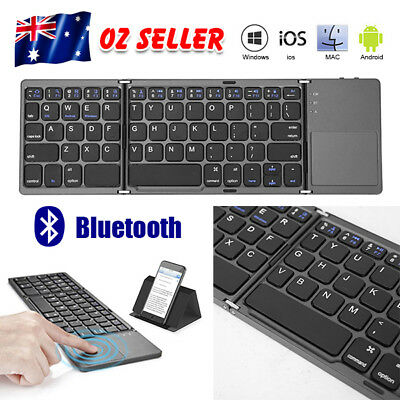 Foldable Slim Bluetooth Wireless Keyboard for Apple iPad iPhone Android Windows
