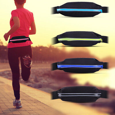 Unisex Travel Running Jogging Fitness Waist Belt Strap Bum Bag Pouch Waistband
