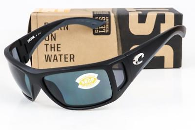 NEW COSTA DEL MAR BOMBA SUNGLASSES Black / Grey 580P Polarized lens