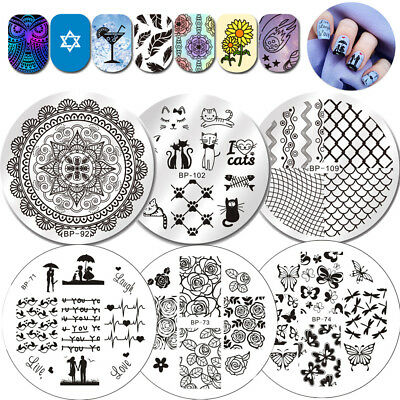 BORN PRETTY Ongles Stamping Pochoir Plaque Modèle Nail Art Ongle Plate Manucure