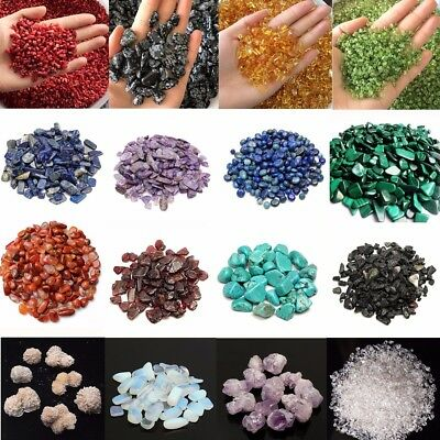 43 Types Natural Mini Quartz Crystal Stone Rock Chips Lucky Healing Minerals
