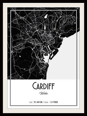 ISLE OF WIGHT MAP POSTER PRINT MODERN CONTEMPORARY CITIES TRAVEL IKEA FRAMES