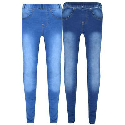 Stretchy Jeans Kids Denim Jeggings Trousers Leggings Age 5-14 Years Pants Girls