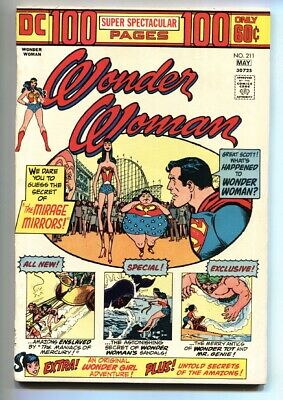 Wonder Woman #211 1974-DC-Superman cover-Giant 100 page issue-