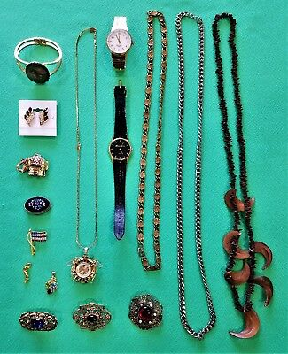Very Nice Mixed Lot Of Clean Junk Drawer Jewelry Items From Estate Sales !!!