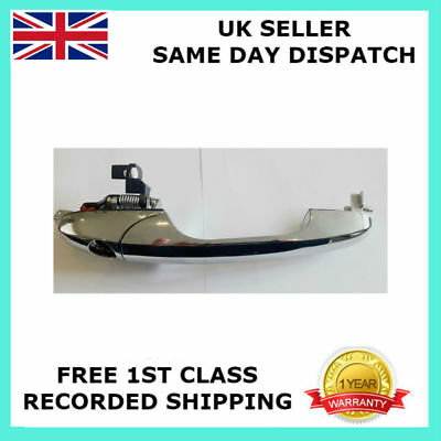 For Fiat 500 Lounge Abarth Offside Right Chrome Door Handle 735592012 Rhd-Uk