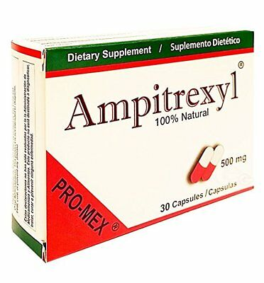 Ampitrexyl Capsules, 100 % Natural, 500 mg, 30 Ct (3 Pack)