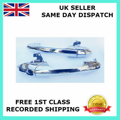 Pair For 500 Pop Cc Lounge Abarth Left&Right Chrome Door Handle 735485872 Rhd-Uk