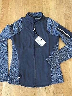Footjoy Jacke Damen Windbreaker Fleece Golfjacke Grau XL