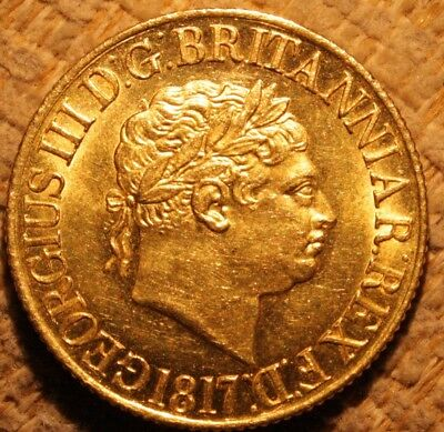 1817 Sovereign George III 3rd UNC High Grade
