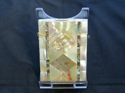 Antique Victorian Mother-Of-Pearl Card Case, Diamond Shaped Panels, 19th Century