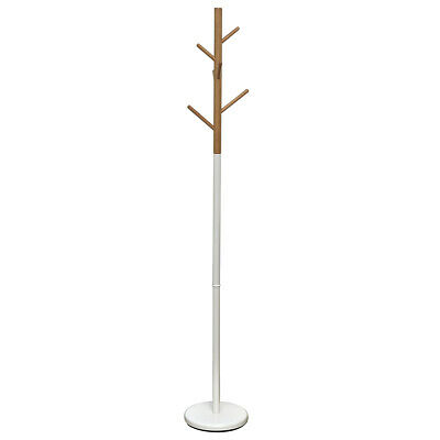 Evideco Coat Rack Standing Hall Tree for Entryway 6 Hooks- Modern D-