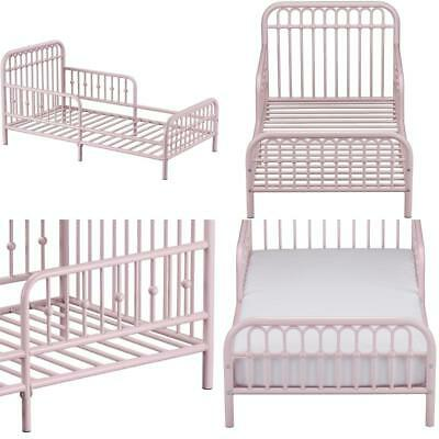TODDLER BED FRAME Vintage Chic Metal Beds For Girls Princess Pink ...