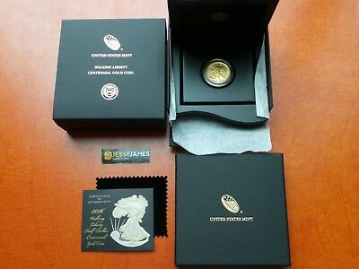 2016 W Walking Liberty Half Oz Gold Centennial Commemorative Coin W/ Ogp 16Xa