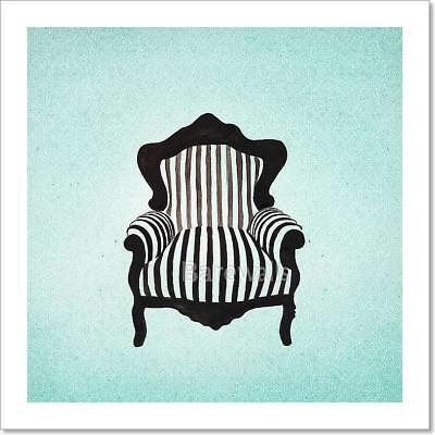 Baroque Armchair Background  Art Print Home Decor Wall Art Poster - E