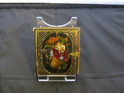 Antique Victorian Lacquered Wood Photograph Frame Case, Circa Mid 19th Century