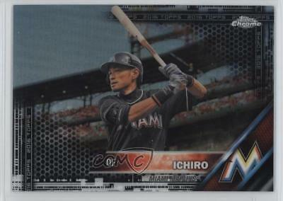 Verzamelingen Honkbal 2016 Topps Chrome Purple Refractor 116 Ichiro Suzuki Miami Marlins Baseball Card